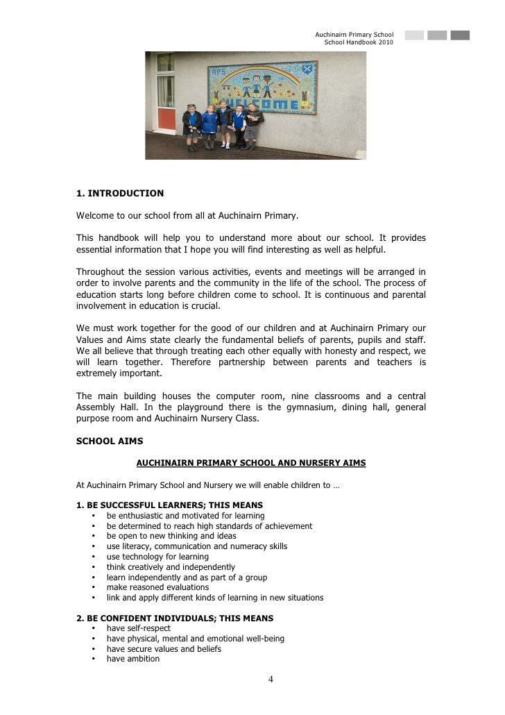 Auchinairn Primary School                                                                  School Handbook 2010     1. INT...