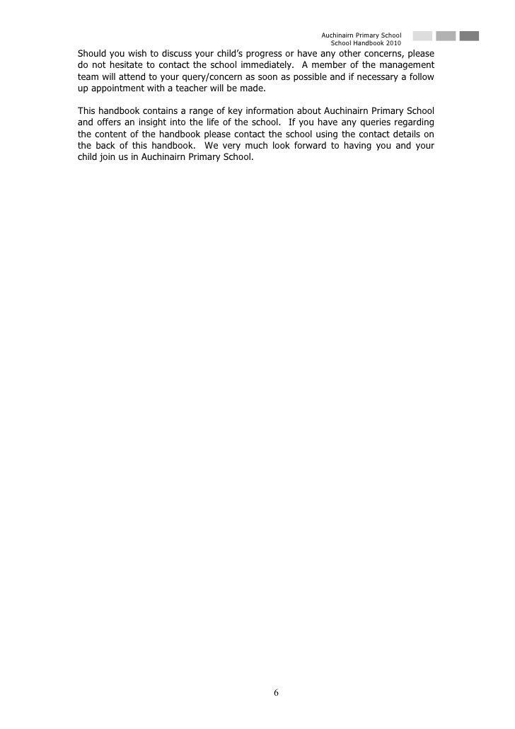 Auchinairn Primary School                                                            School Handbook 2010 Should you wish ...