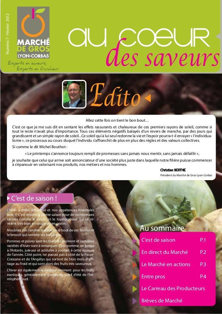 Numéro 7 - Février 2012                                                             au cOeur                              ...