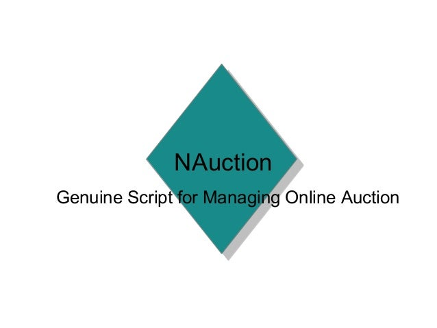 NAuction Genuine Script for Managing Online Auction