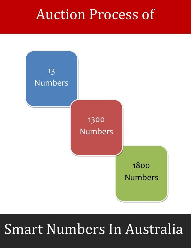 13 Numbers 1800 Numbers 1300 Numbers Smart Numbers In Australia Auction Process of