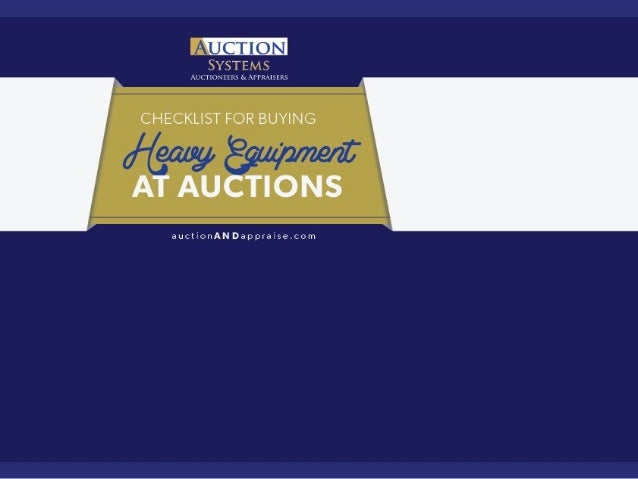 Checklist for Buying Heavy Equipment at Auction