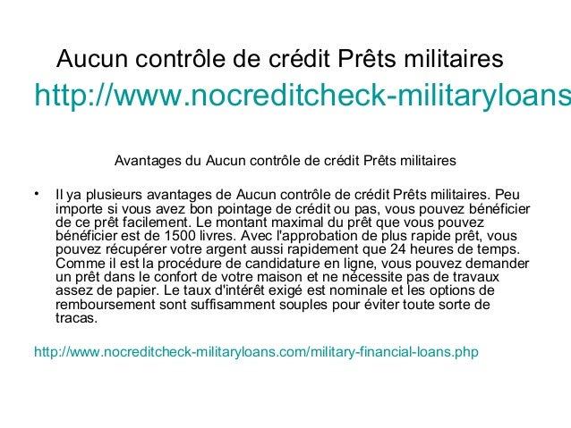 Aucun contrôle de crédit Prêts militaires http://www.nocreditcheck-militaryloans Avantages du Aucun contrôle de crédit Prê...