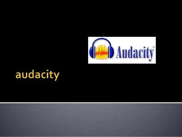   Audacity es un código abierto, editor de audio multiplataforma y grabador que tiene como objetivo procesar los formatos...
