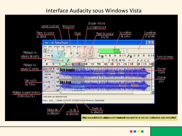 Interface Audacity sous Windows Vista