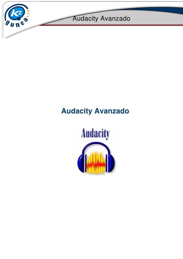 Audacity AvanzadoAudacity Avanzado
