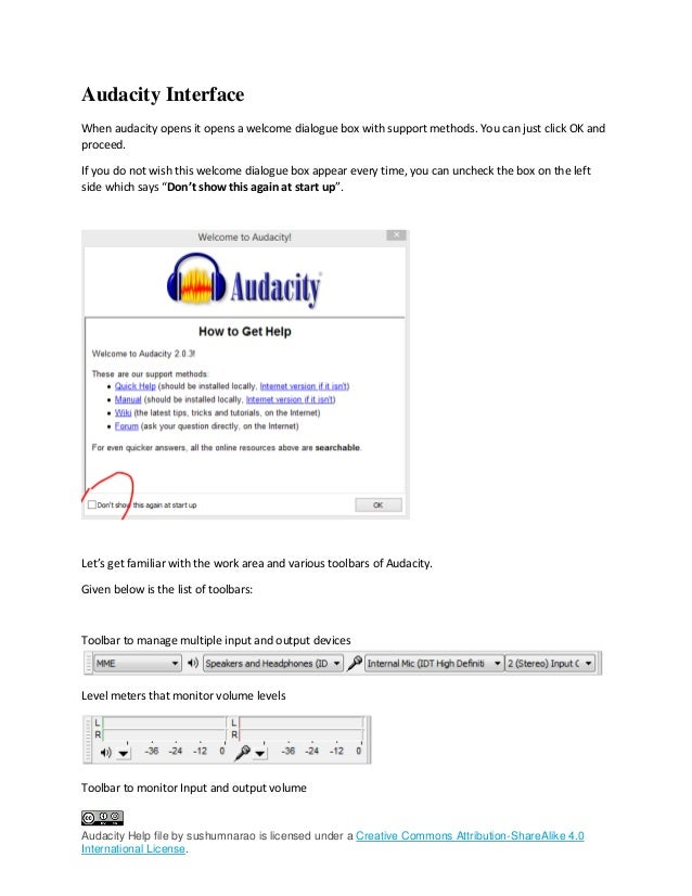 Audacity help file by sushumnarao