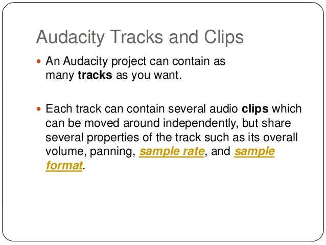 https://image.slidesharecdn.com/audacitytracksandclips-140227110123-phpapp02/95/audacity-tracks-and-clips-2-638.jpg?cb=1393514724 Audacity Meaning