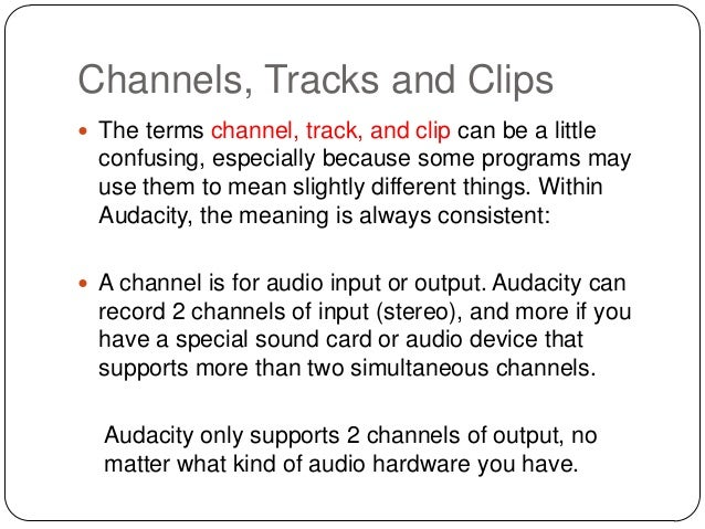 https://image.slidesharecdn.com/audacitytracksandclips-140227110123-phpapp02/95/audacity-tracks-and-clips-3-638.jpg?cb=1393514724 Audacity Meaning