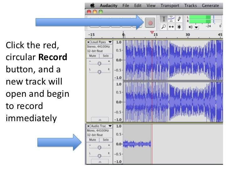 Audacity voice over sound
