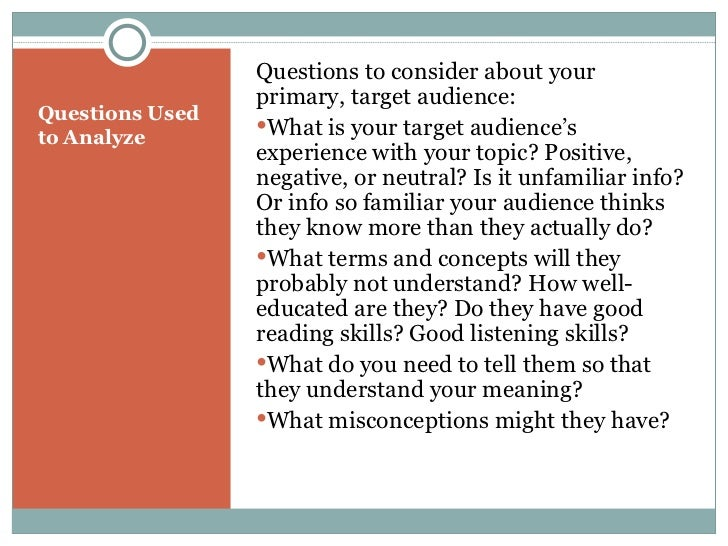 audience paper What this handout is about this handout will help you understand and write for the appropriate audience when you write an academic essay audience.