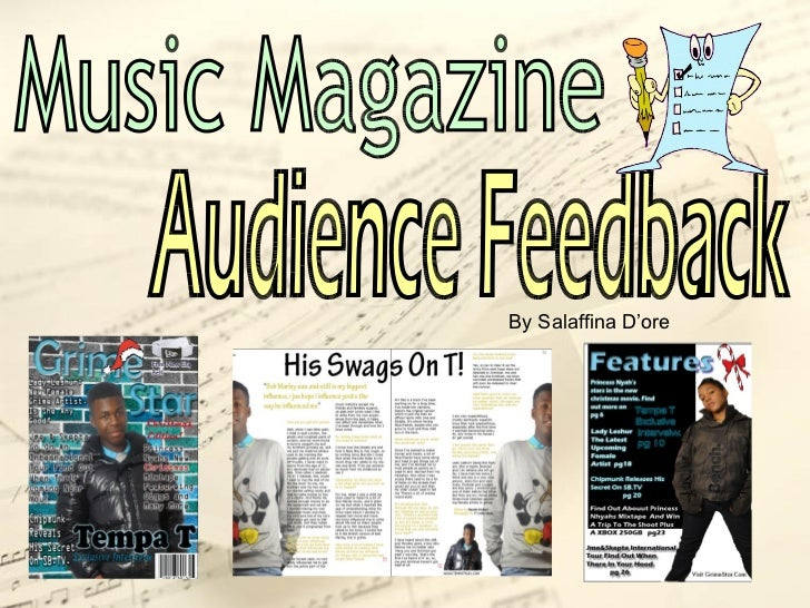 Audience Feedback Music Magazine By Salaffina D'ore