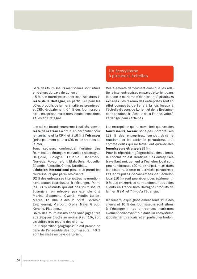 Les emplois maritimes du pays de lorient volution 2012 2016 aud lo - Comptoir metallurgique de bretagne queven ...