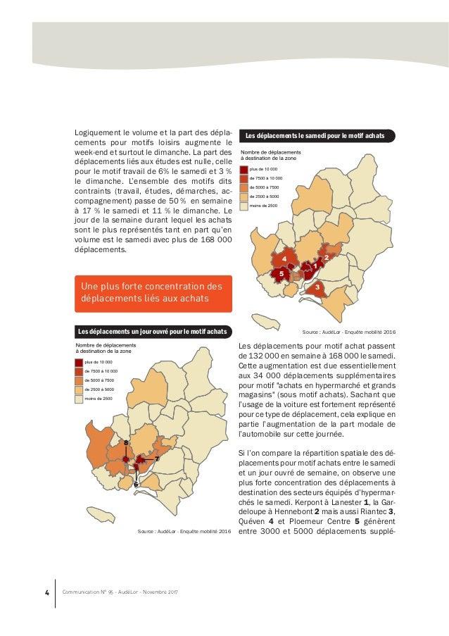 Enquete Mobilite Au Pays De Lorient Les Deplacements En 2016 La Mob