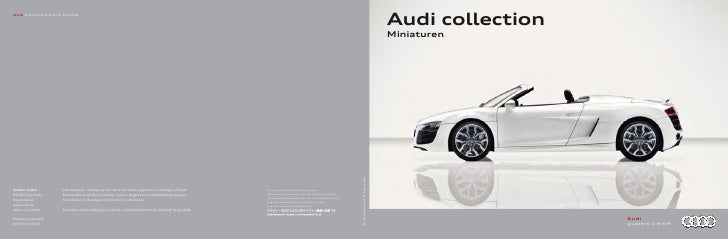 Audi collectionMiniaturen                  Audi                  quattro GmbH