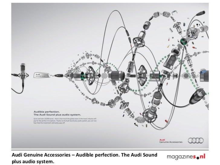 Audi Genuine Accessories – Audible perfection. The Audi Soundplus audio system.