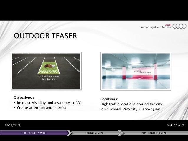 Audi A1 Integrated Marketing Campaign Singapore Apac