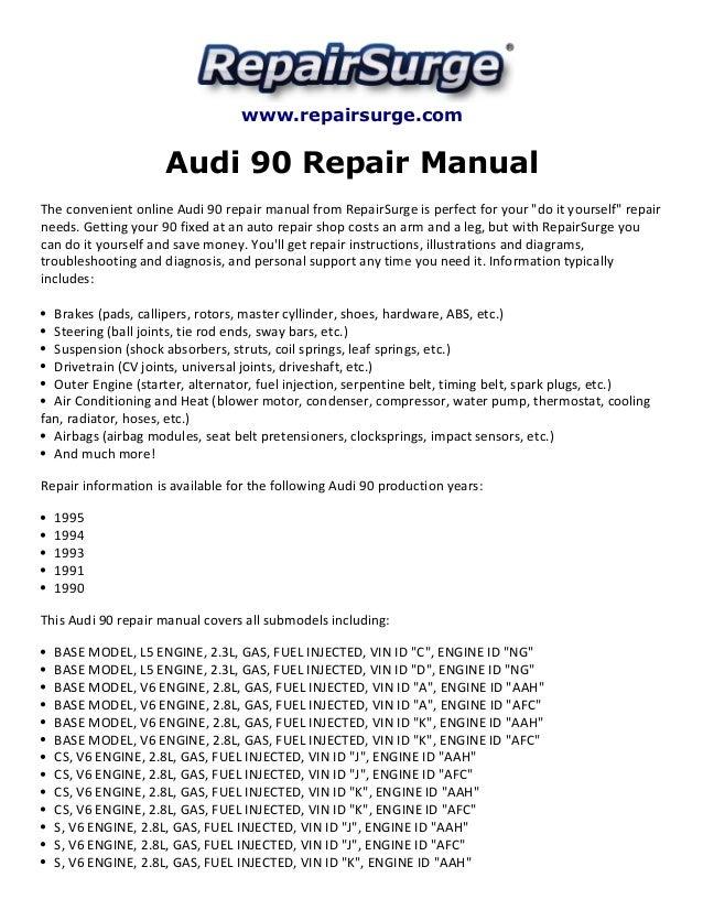audi 90 repair manual