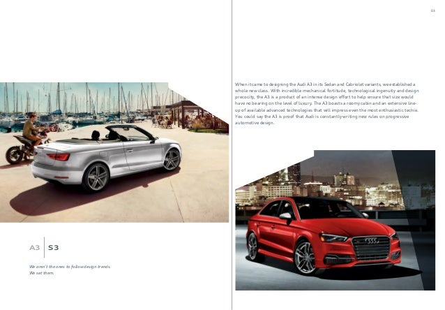 2016 Audi A3 Brochure Audi Dealer Orange County