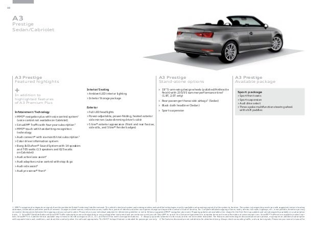 2016 Audi A3 Brochure   Audi Dealer Orange County