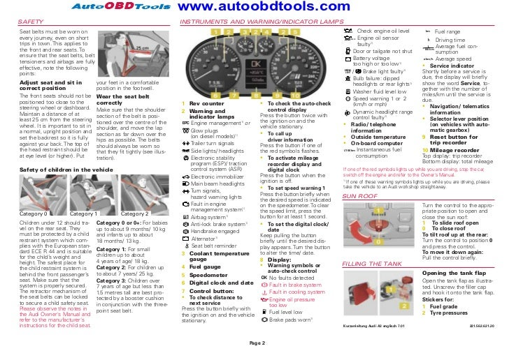 audi a3 quick reference guide diagram user manual rh slideshare net audi a2 owners manual pdf audi a5 user manual