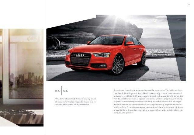 2016 Audi A4 Brochure Orange County Ca Audi