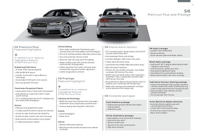 2016 Audi A6 Brochure | Orange County Audi Dealer