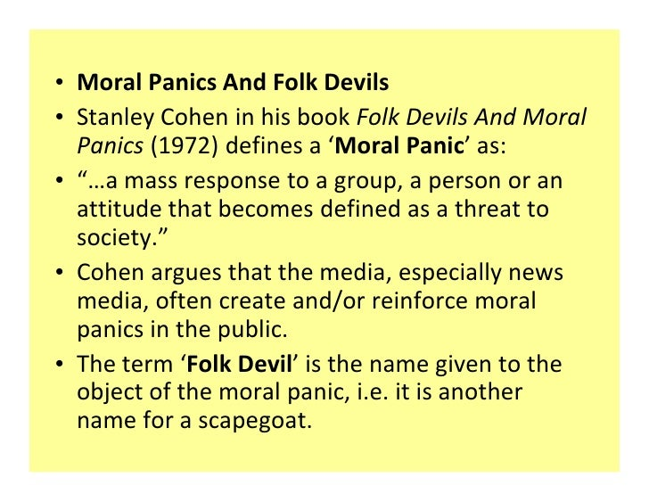 mass media creating and sustaining moral panic media essay Context 21 - the media mass media and participatory media is a text about the developement of the media as a channel of communication from the past to the.