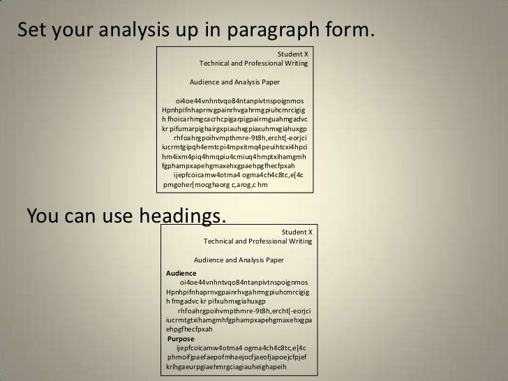 audience analysis paper tips 6 set your analysis