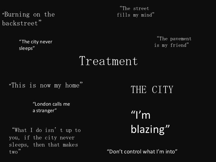"""The street""Burning on the                       fills my mind""backstreet""                                                ..."
