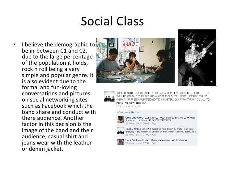 Social Class <ul><li>I believe the demographic to be in-between C1 and C2, due to the large percentage of the population i...