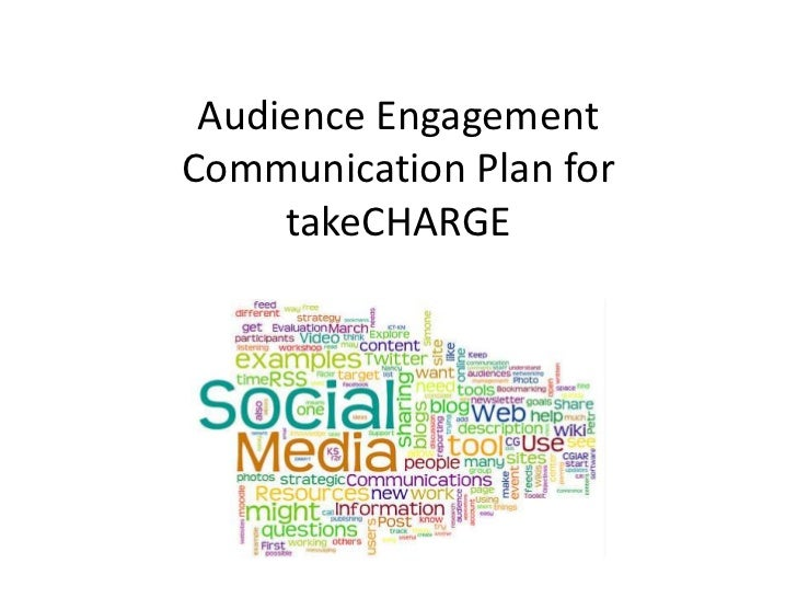 Audience Engagement Communication Plan for takeCHARGE<br />