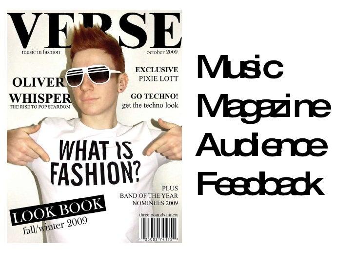 Music  Magazine  Audience  Feedback