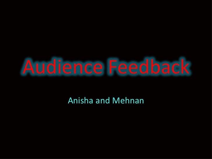 Anisha and Mehnan