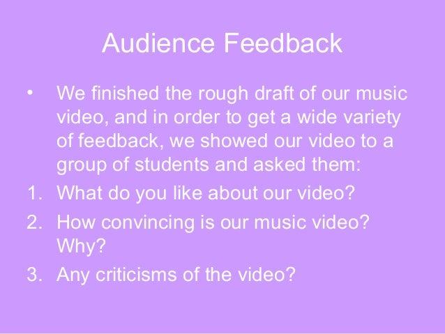 Audience feedback Slide 2