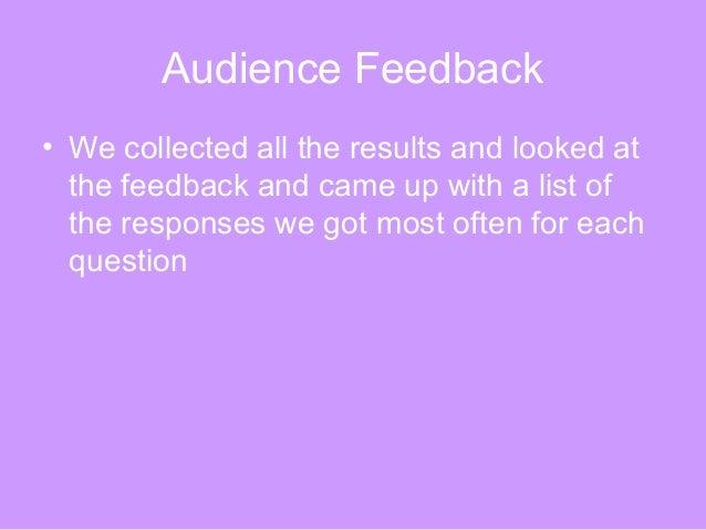 Audience feedback Slide 3
