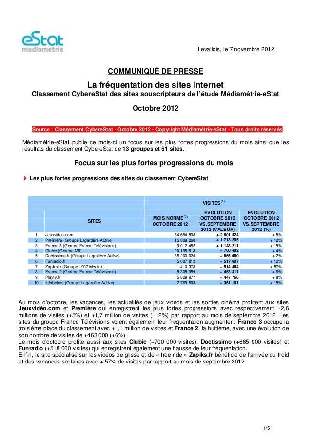 Levallois, le 7 novembre 2012                                           COMMUNIQUÉ DE PRESSE                              ...