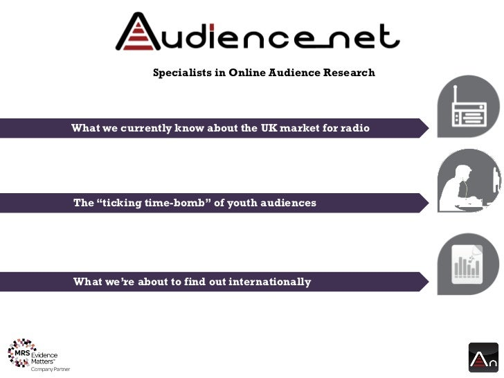 """Specialists in Online Audience ResearchWhat we currently know about the UK market for radioThe """"ticking time-bomb"""" of yout..."""