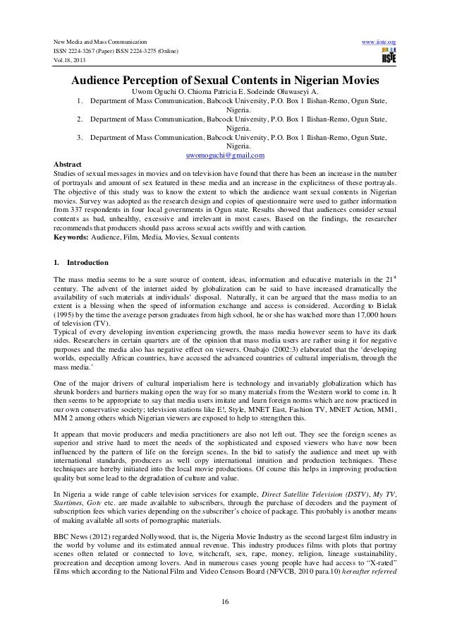 New Media and Mass Communication ISSN 2224-3267 (Paper) ISSN 2224-3275 (Online) Vol.18, 2013  www.iiste.org  Audience Perc...