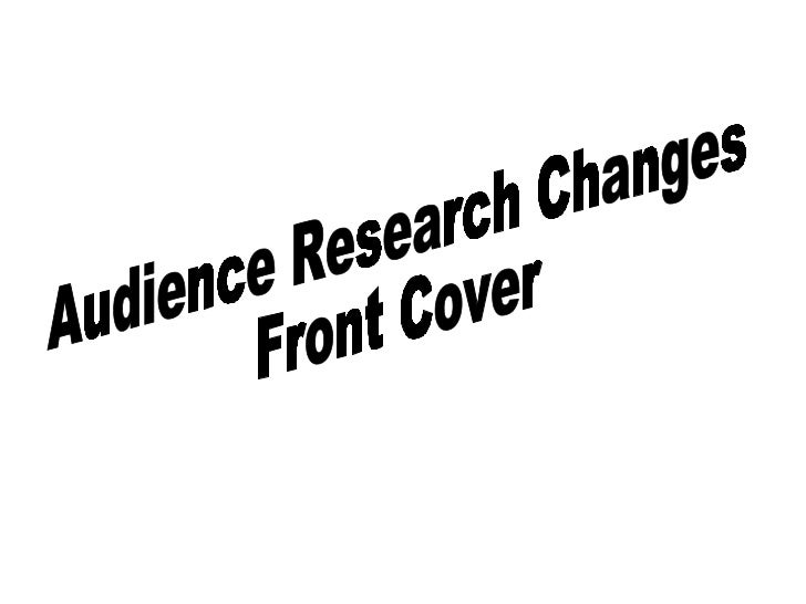 Audience Research Changes Front Cover