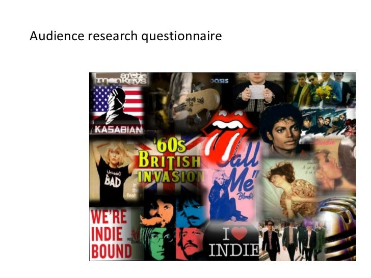 Audience research questionnaire<br />