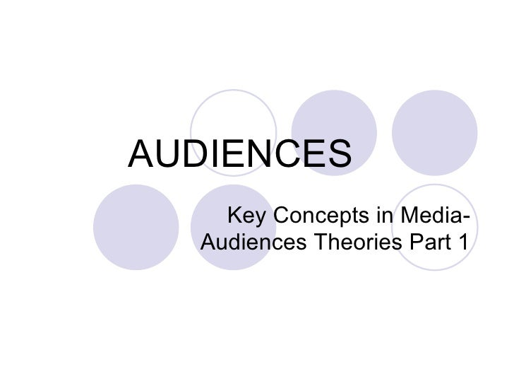 AUDIENCES Key Concepts in Media- Audiences Theories Part 1