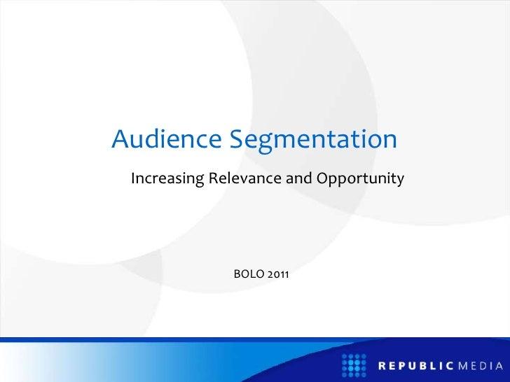Audience Segmentation Sr