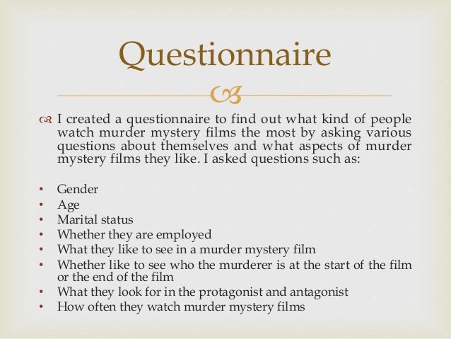 Audiences of murder mystery films
