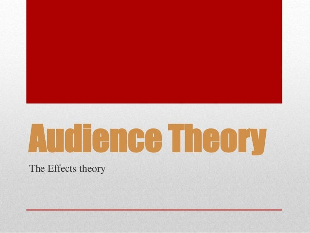 Audience Theory The Effects theory