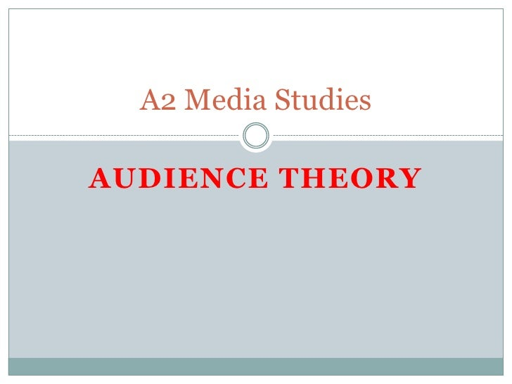 Audience Theory<br />A2 Media Studies<br />