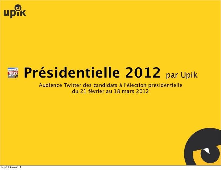 Présidentielle 2012                                  par Upik                     Audience Twitter des candidats à l'élect...