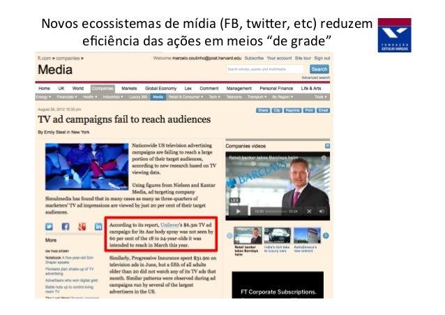 Marcas  =  Informação   Informação  =  Moeda  das  redes  sociais   Função  comercial  das  Redes...