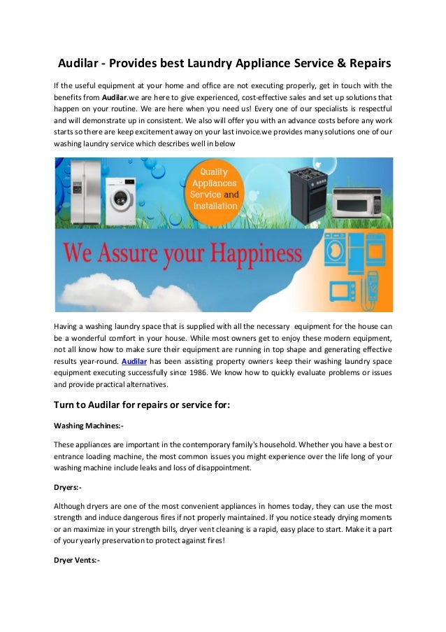 Audilar provides modern rules for best home appliances - Home appliances that we thought ...