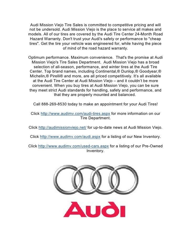 Audi Mission Viejo Tire Sales
